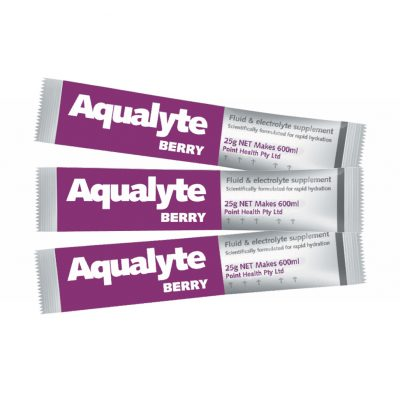 Aqualyte 25g – BERRY Flavour Various Size Packs