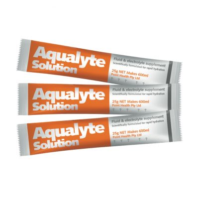Aqualyte 25g – ORANGE Flavour Various Pack Sizes
